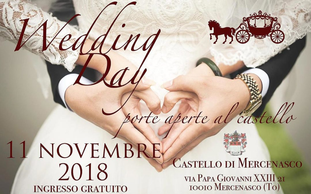 Locandina Wedding OPEN DAY al Castello di Mercenasco